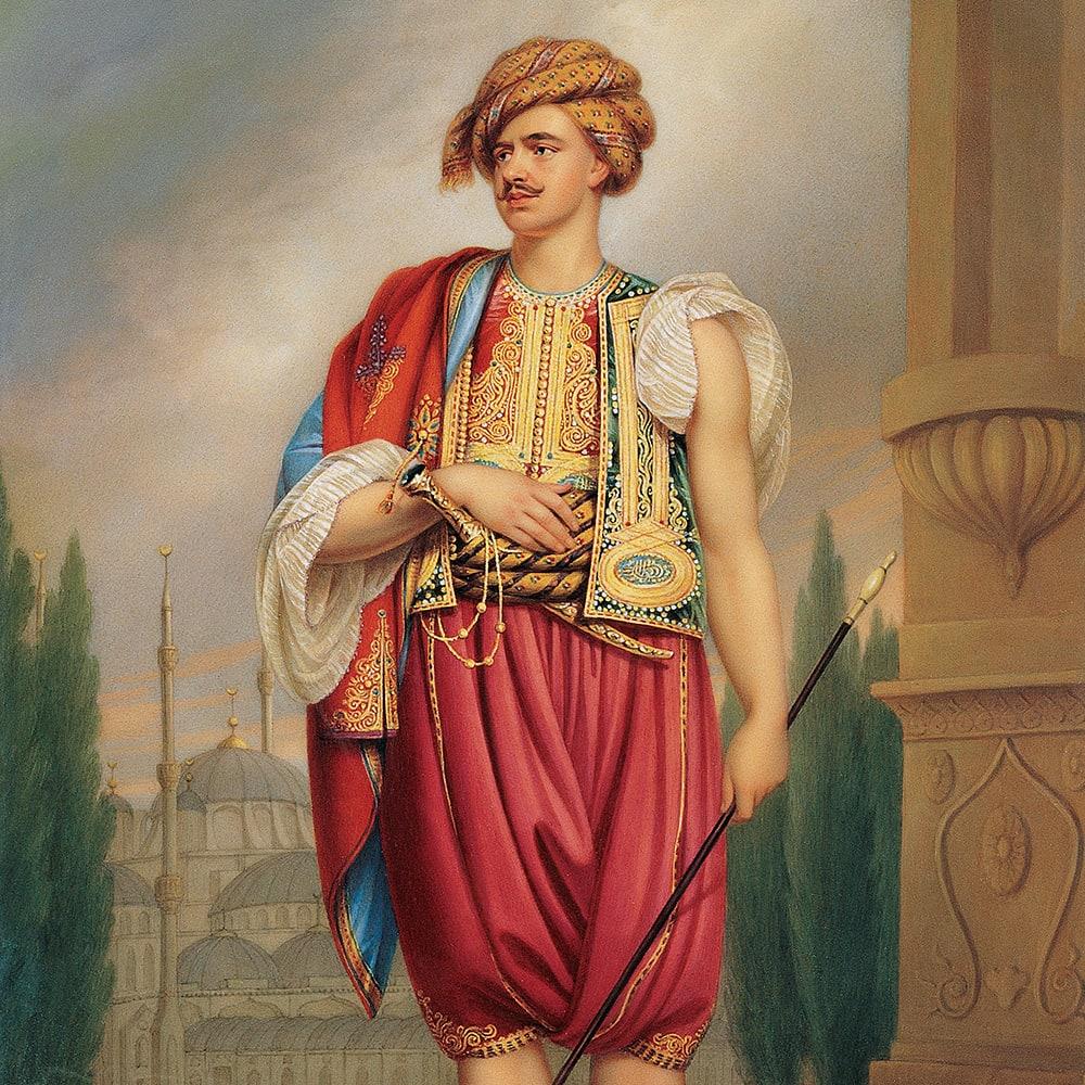 Thomas Hope'un Türk Giysileri İçinde Portresi