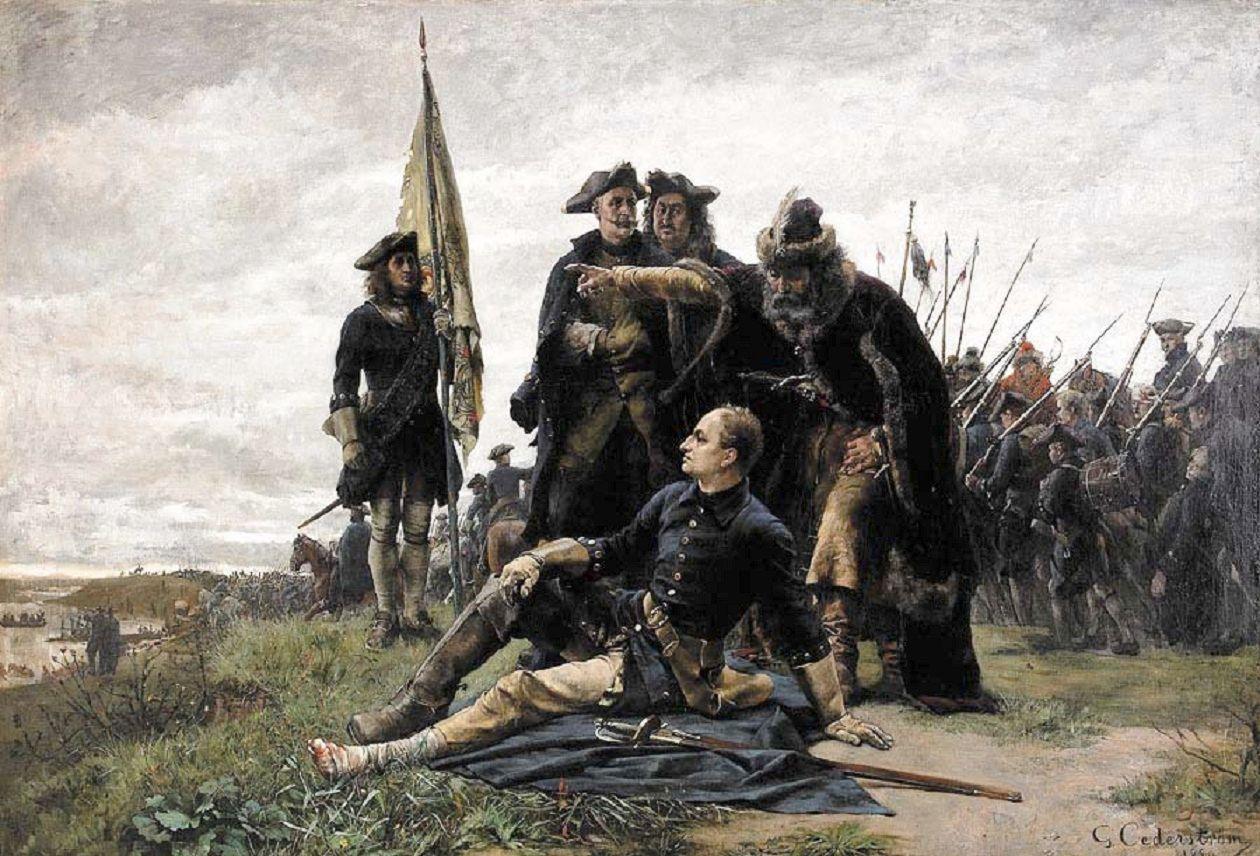 Poltava yenilgisinin ardından XII. Karl ve Ivan Mazepa, Gustaf Cederström, 1880'ler