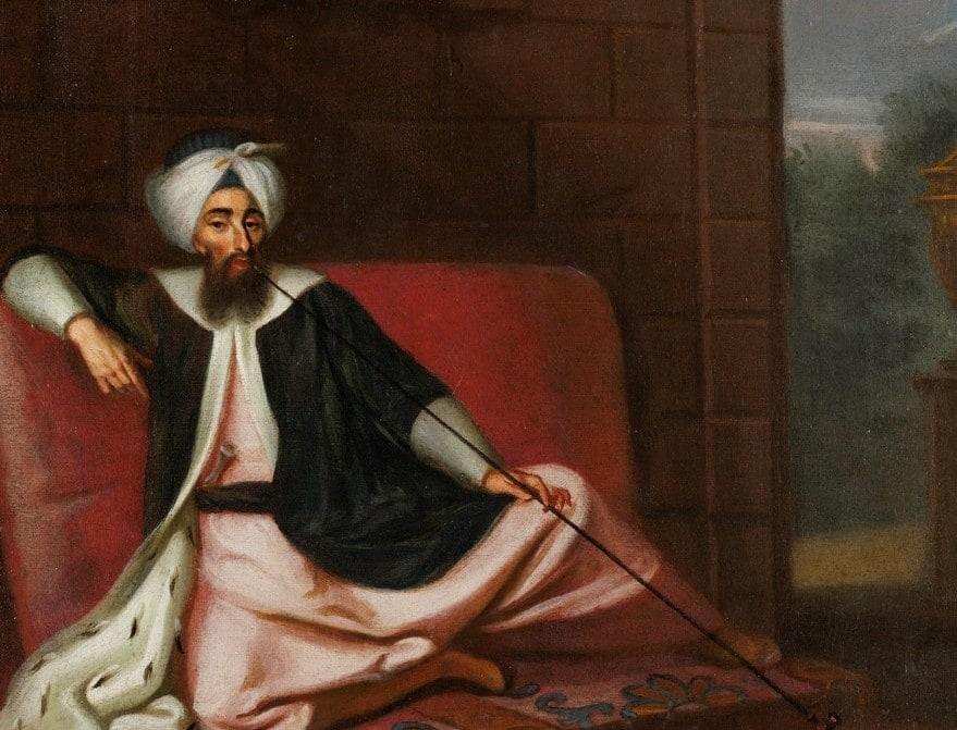 Kozbekçi Mustafa Ağa, Ressamı belirsiz, (George Engelhardt Schröder'den), Tuval üzerine yağlıboya 45 x 38,5 cm.
