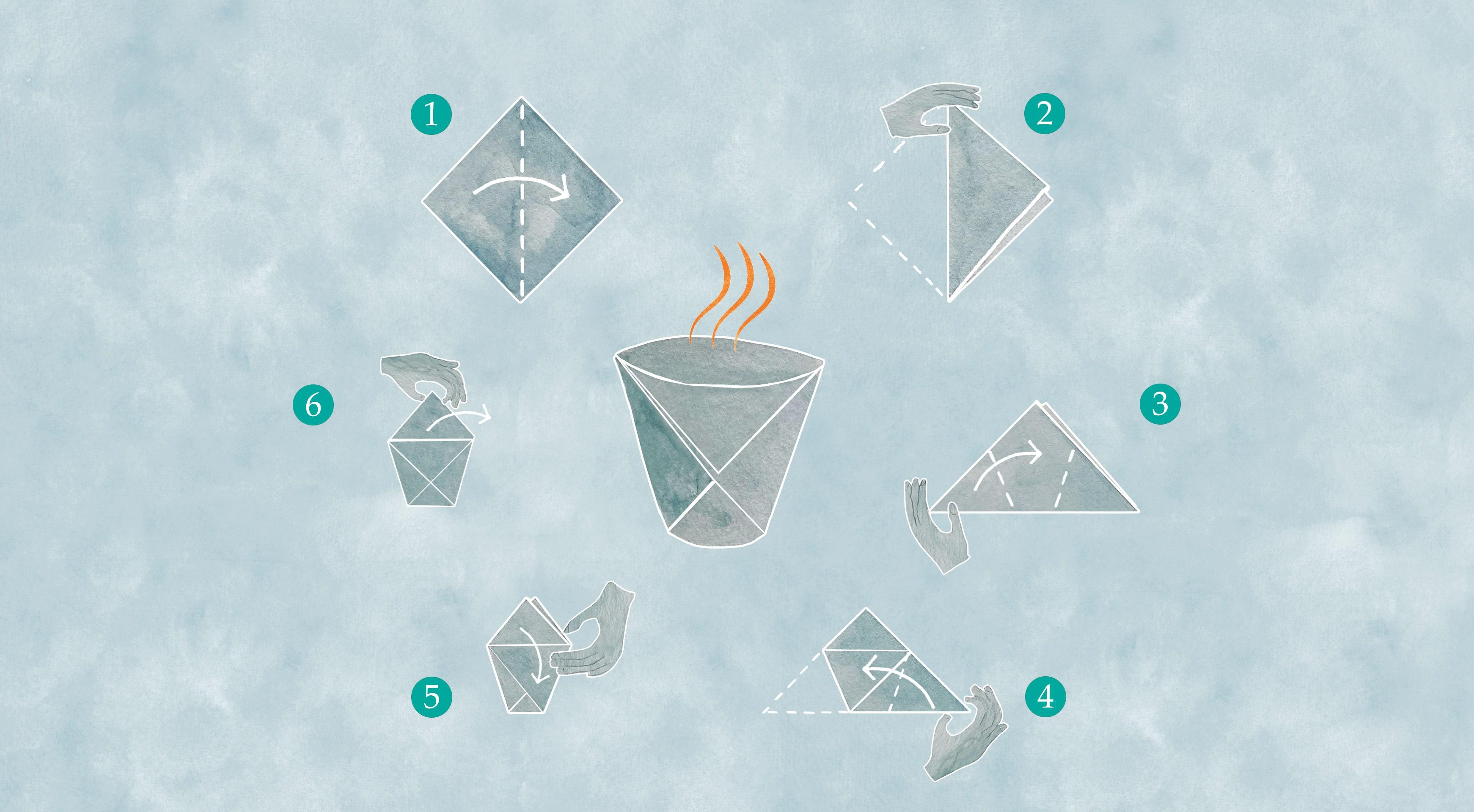Origamiden Fincan Tasarımı