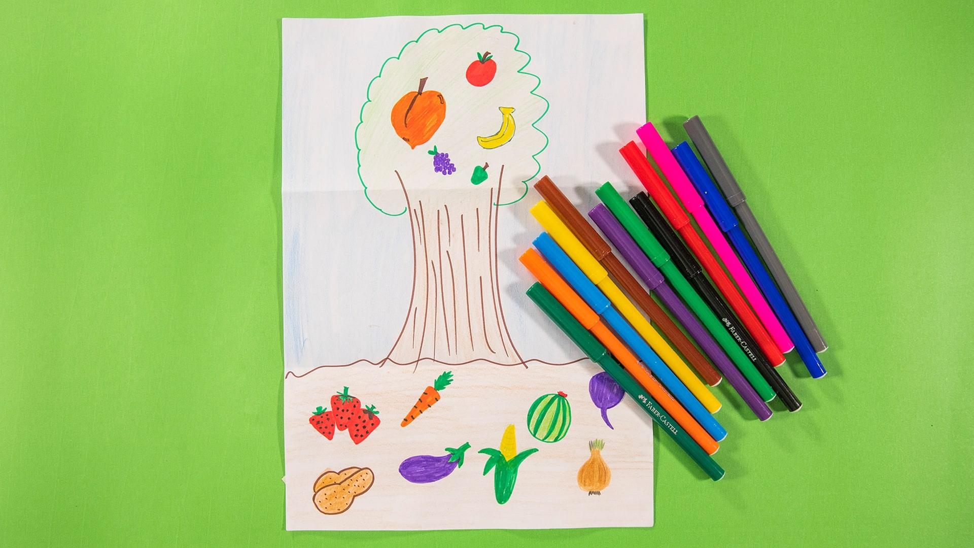 Çizimlerle Ekolojik Bahçe