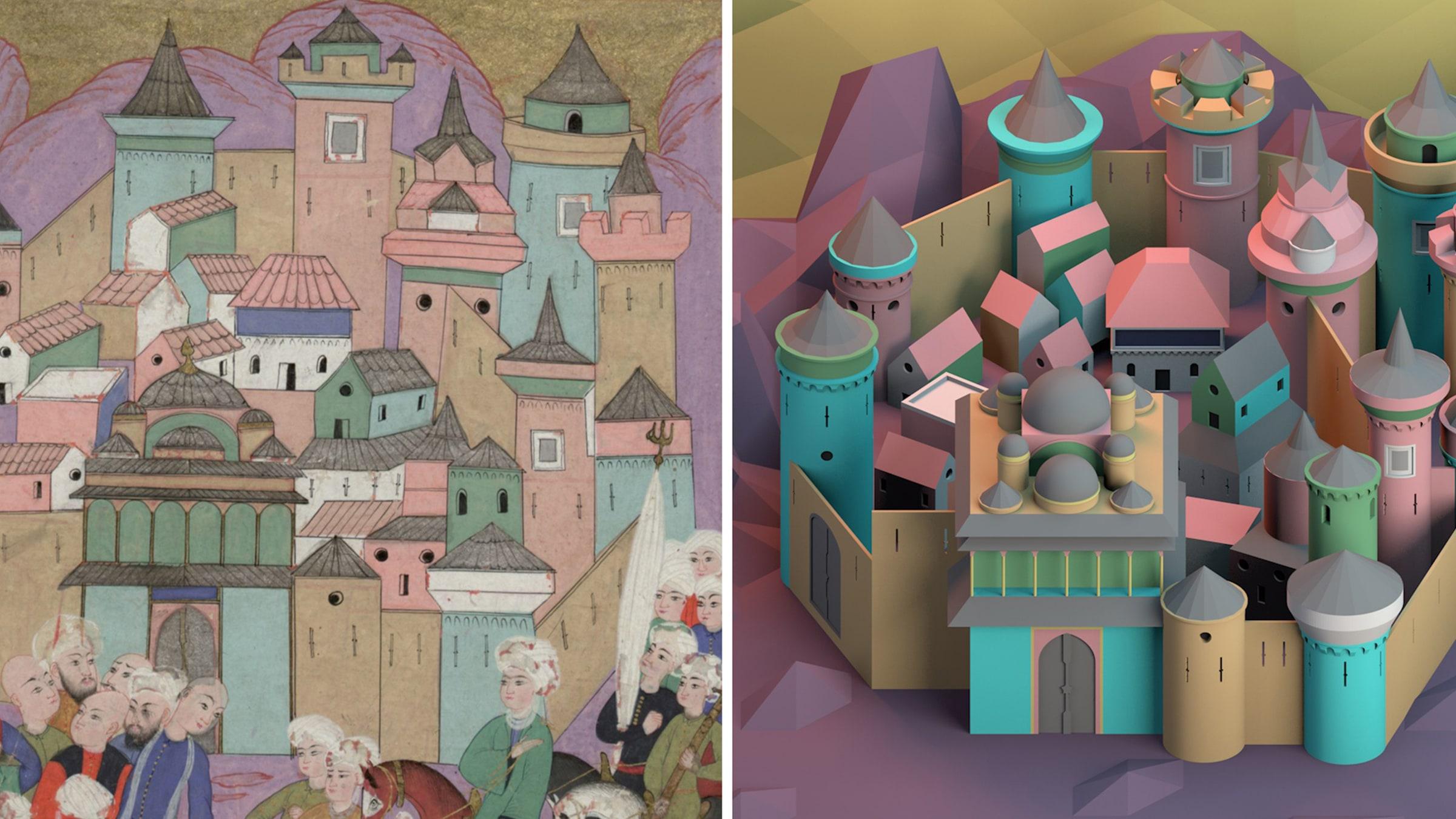 Çevrimiçi Konuşma <br> Osmanlı Minyatür Sanatında Parçalı Mimari Mekân Anlayışı: <br> Kültürler Arası Etkileşimler ve Zaman Ötesi İlişkiler