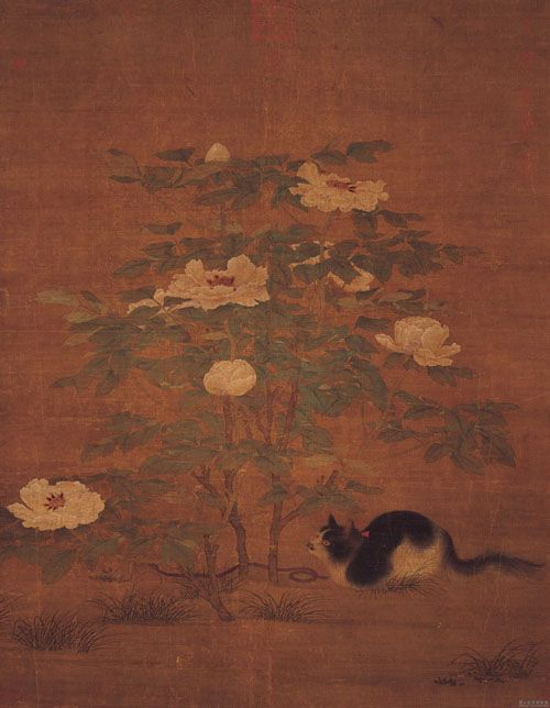 Şakayık Ağacı Altında Bir Kedi