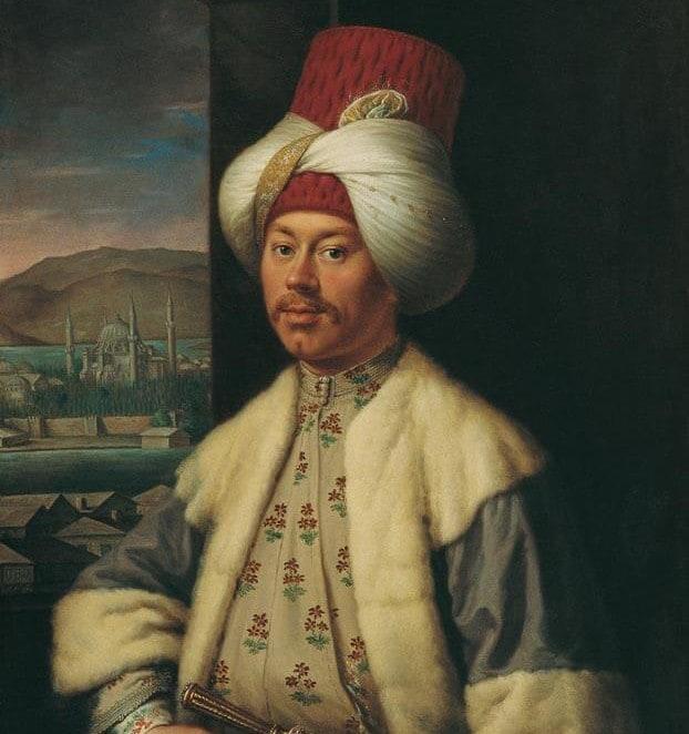 Türk Gi̇ysi̇leri̇ İçi̇nde Bi̇r Avrupalıı, Antoi̇ne De Favray (?), 1762-1771 arası, Tuval üzerine yağlıboya, 84 x 68 cm.