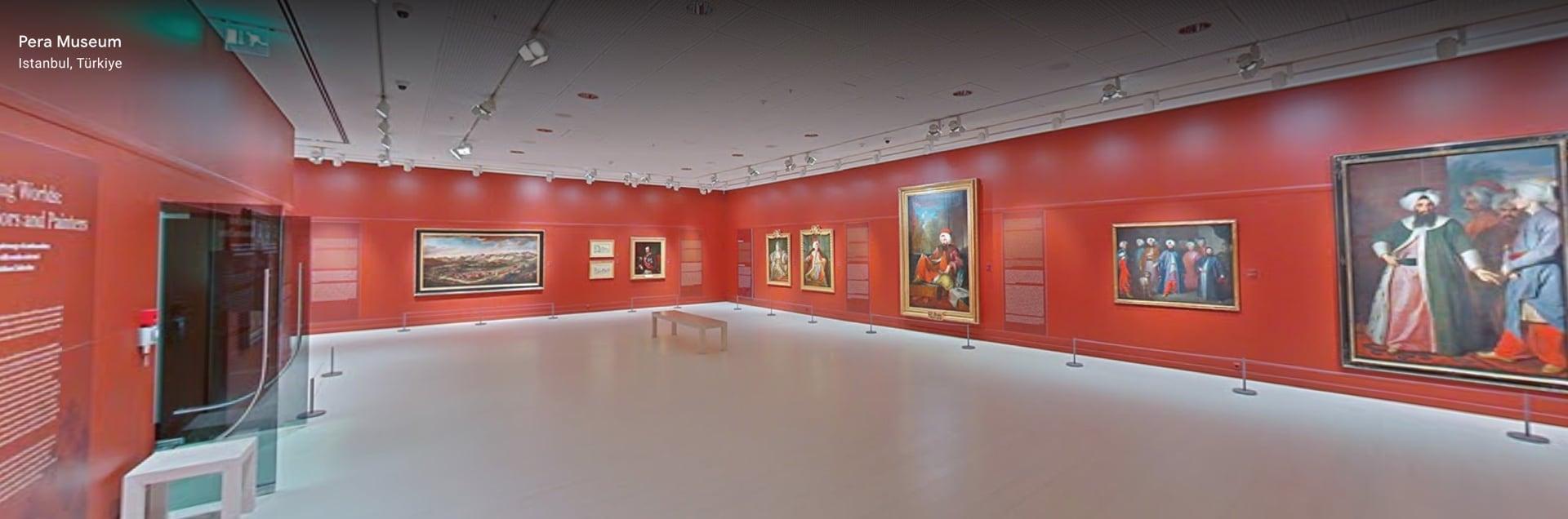 """Pera Müzesi, """"Kesişen Dünyalar: Elçiler VE Ressamlar"""" Sergisi, Google Arts & Culture Ekran Görüntüsü"""